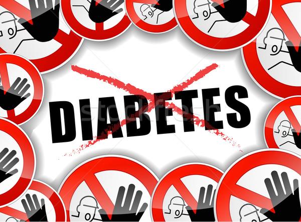 no diabetes abstract concept Stock photo © nickylarson974