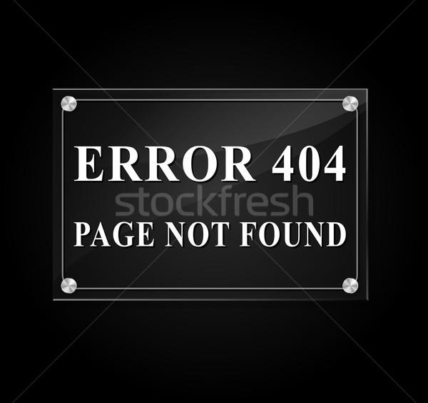 Website Fehler Seite Illustration Nachricht schwarz Stock foto © nickylarson974