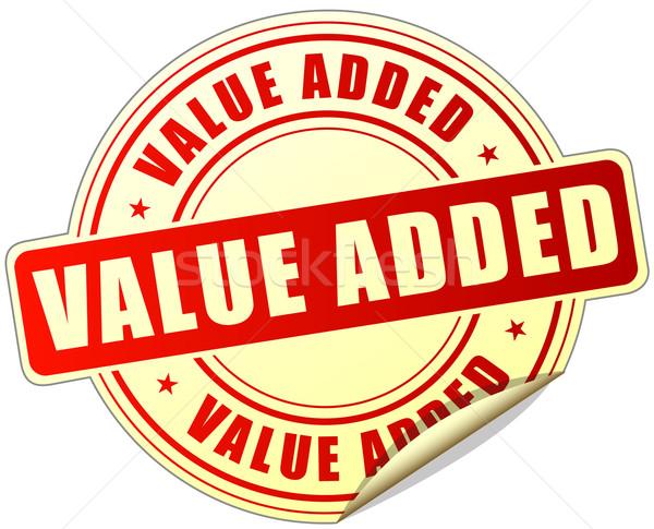 value added label Stock photo © nickylarson974