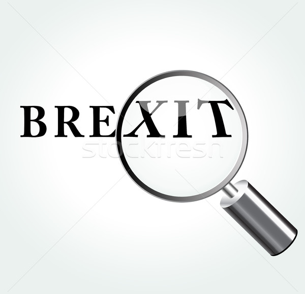 brexit word Stock photo © nickylarson974