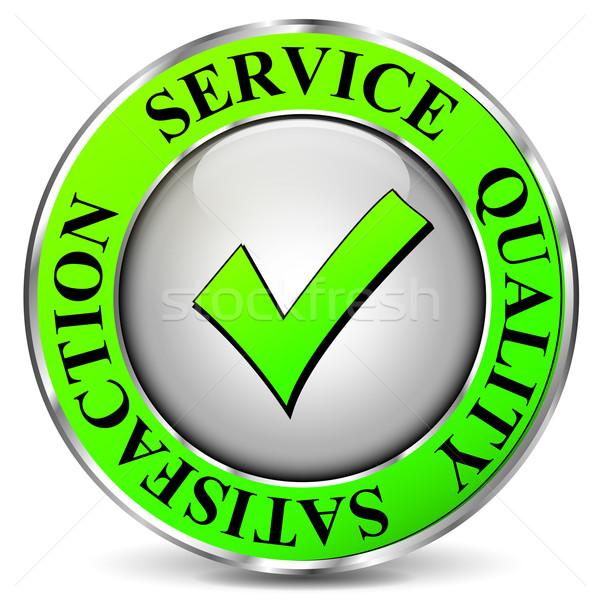 Wektora jakości usługi ikona biały działalności Zdjęcia stock © nickylarson974