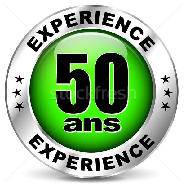 fifty years experience icon Stock photo © nickylarson974