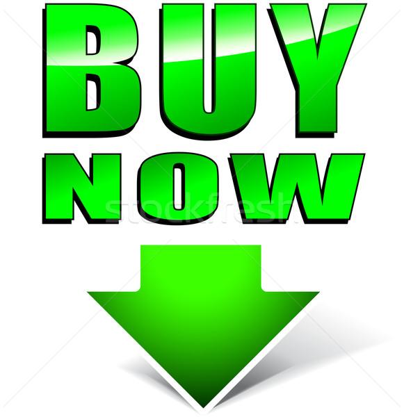 Buy now green icon Stock photo © nickylarson974