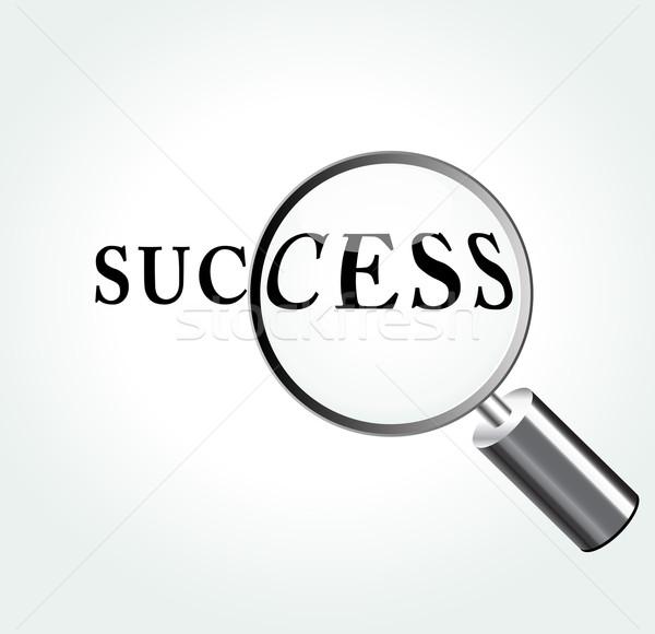 Absztrakt siker illusztráció nagyító üzlet terv Stock fotó © nickylarson974