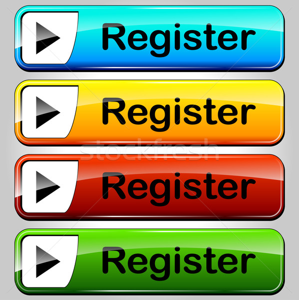 Stock photo: register buttons