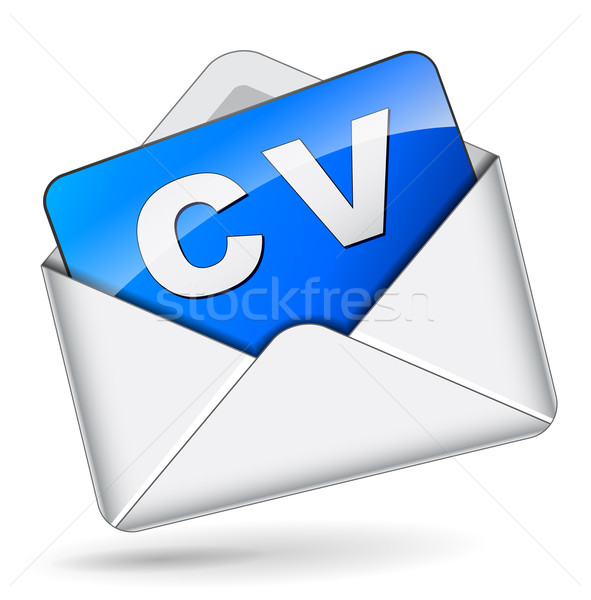 Cv mail enveloppe blanche affaires papier Photo stock © nickylarson974