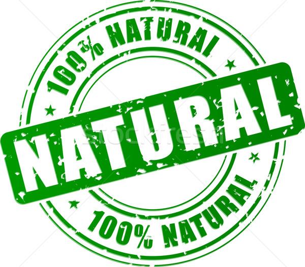 Stock fotó: Vektor · természetes · bélyeg · zöld · étel · egészség