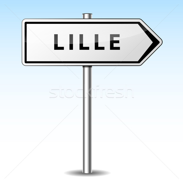 Vector lille directional sign Stock photo © nickylarson974