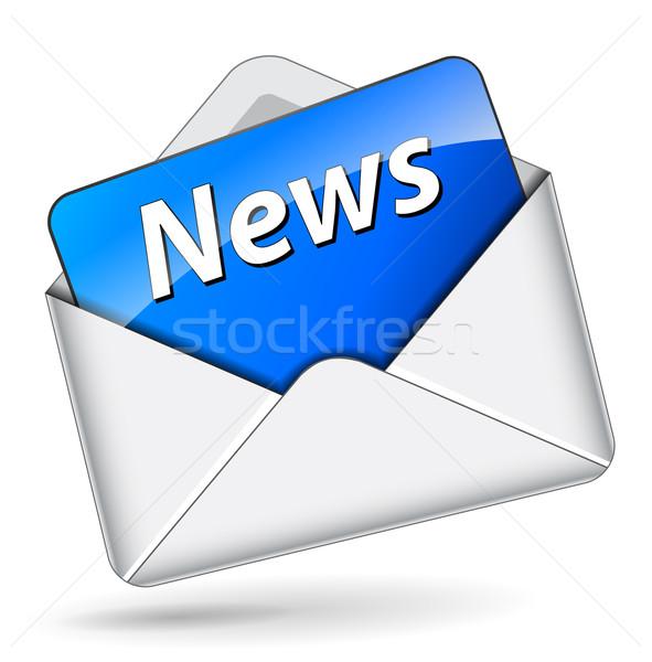 Vector news mail icon Stock photo © nickylarson974