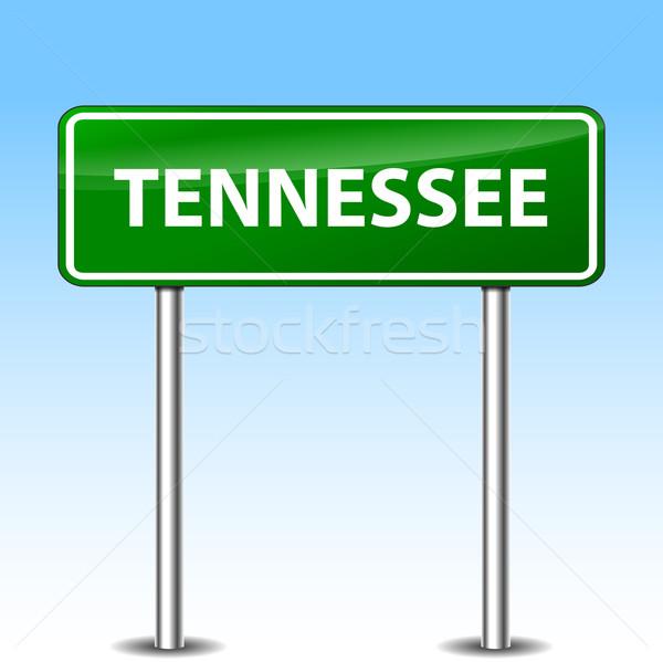 Tennessee podpisania ilustracja zielone metal znak drogowy Zdjęcia stock © nickylarson974