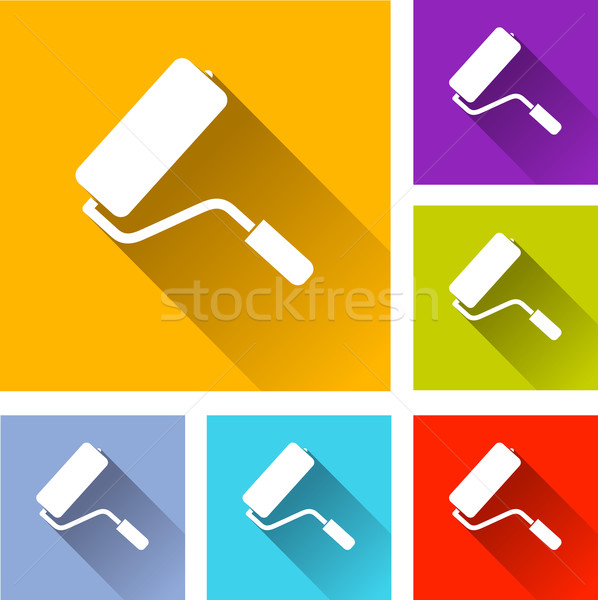 paint roller icons Stock photo © nickylarson974