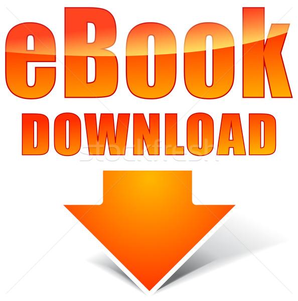 Vector orange ebook icon Stock photo © nickylarson974