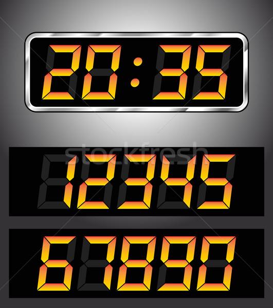 digital clock Stock photo © nickylarson974