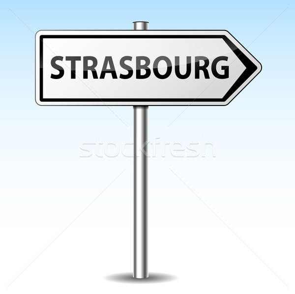 Stock photo: Vector strasbourg directional sign