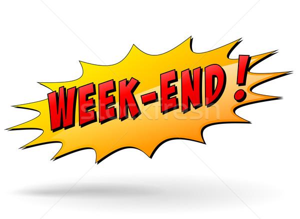 Vector week-end icon Stock photo © nickylarson974