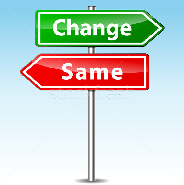 Vector change and same direction sign Stock photo © nickylarson974