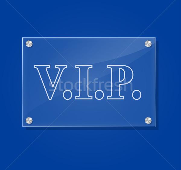 Vector vip sign Stock photo © nickylarson974