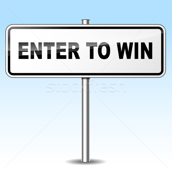 enter to win sign Stock photo © nickylarson974