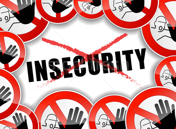 no insecurity abstract concept Stock photo © nickylarson974