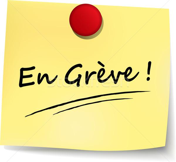 Nota francese traduzione illustrazione giallo Foto d'archivio © nickylarson974