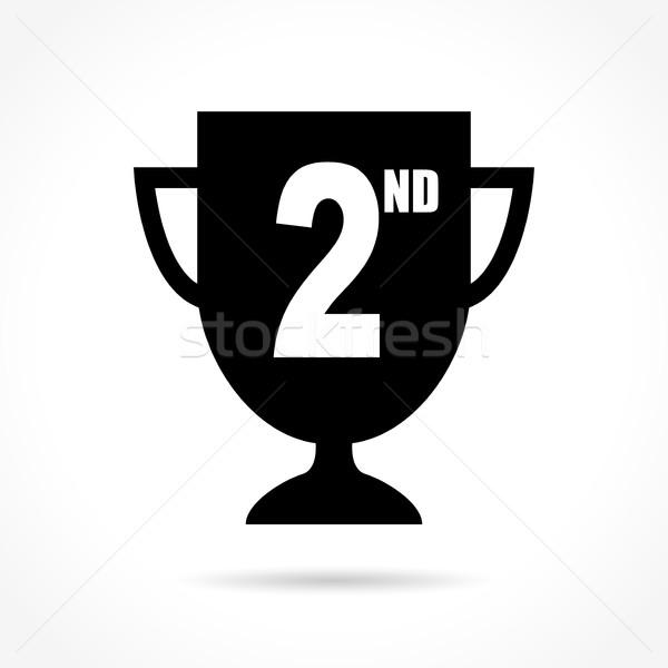 Második ikon fehér illusztráció háló csésze Stock fotó © nickylarson974