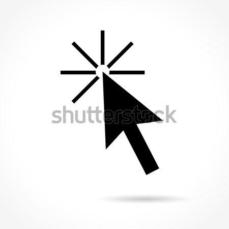 Imleç ikon beyaz örnek fare web Stok fotoğraf © nickylarson974