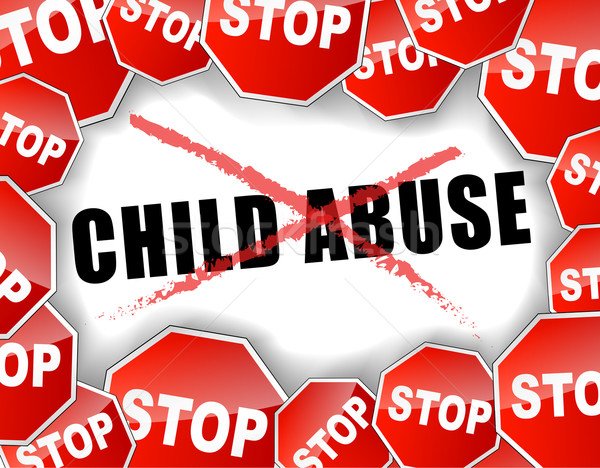 Stop child abuse Stock photo © nickylarson974