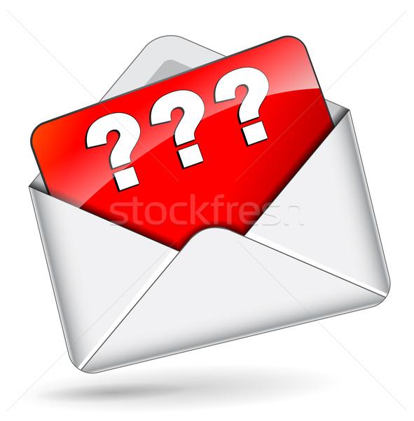 вектора вопросительный почты икона дизайна знак Сток-фото © nickylarson974