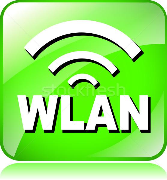 green wlan icon Stock photo © nickylarson974