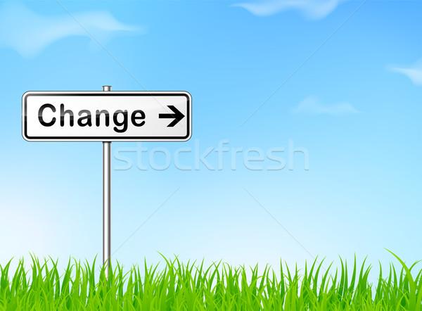 Foto stock: Mudar · direção · assinar · ilustração · natureza · futuro