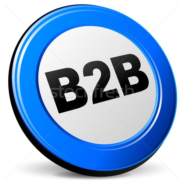 ストックフォト: ベクトル · 3D · b2b · アイコン · 青 · 白