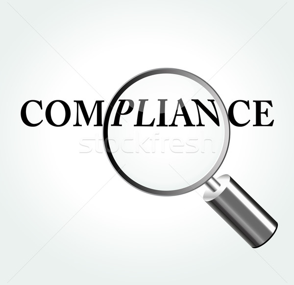 Vector compliance theme illustration Stock photo © nickylarson974