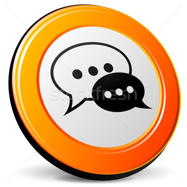 Vector chat icon Stock photo © nickylarson974