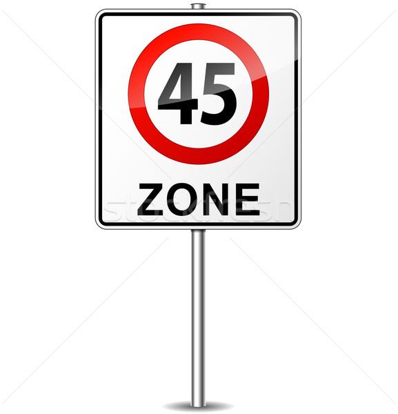 Stok fotoğraf: Vektör · hız · limiti · imzalamak · şehir · sokak · dizayn