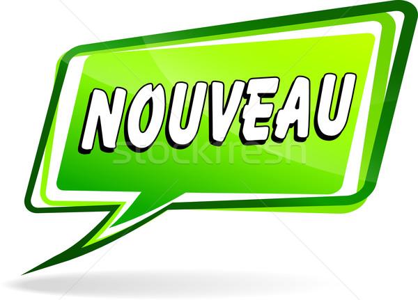 Nuovo discorso francese traduzione verde design Foto d'archivio © nickylarson974