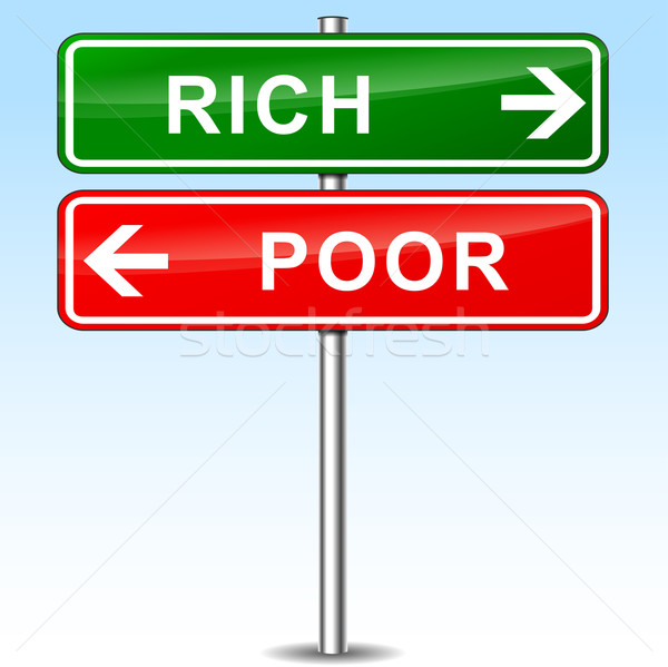 rich and poor directional sign Stock photo © nickylarson974