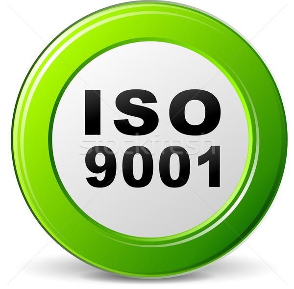 Iso certificaat illustratie groene icon internet Stockfoto © nickylarson974