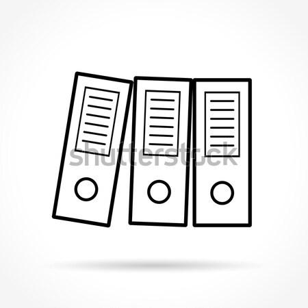 binder design icon Stock photo © nickylarson974