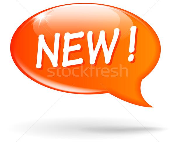 Vector new orange speech bubble Stock photo © nickylarson974