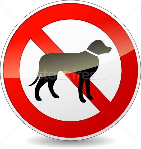 Vector no dogs sign Stock photo © nickylarson974