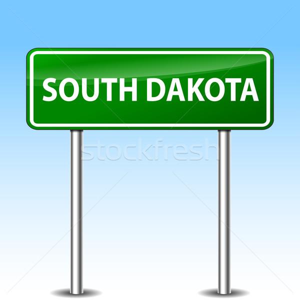 Güney Dakota yeşil imzalamak örnek Metal yol işareti Stok fotoğraf © nickylarson974