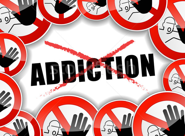 Stock photo: stop addiction problems