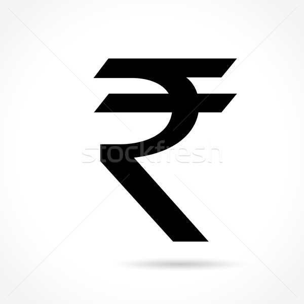 rupee icon on white background Stock photo © nickylarson974