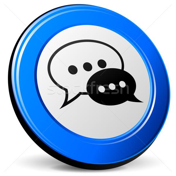 Vector chat 3d icon Stock photo © nickylarson974