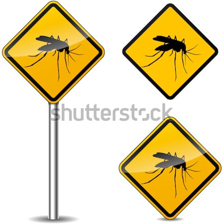Vector beware mosquitos sign Stock photo © nickylarson974