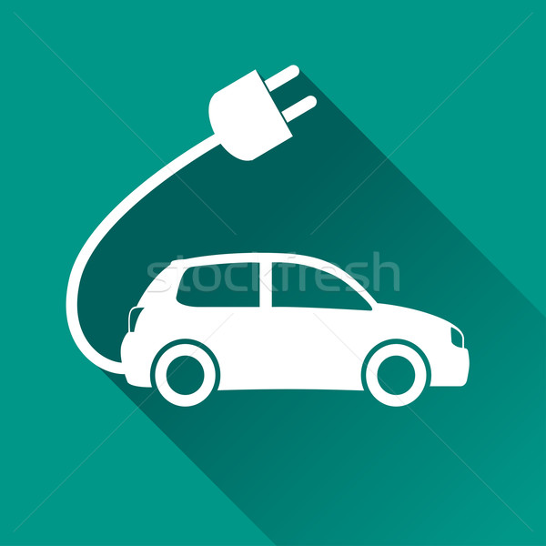 Carro elétrico projeto ícone ilustração isolado carro Foto stock © nickylarson974