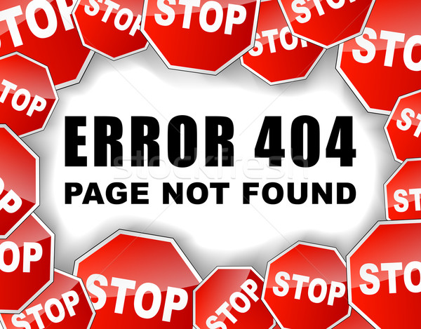 Stop errore di 404 sito internet design Foto d'archivio © nickylarson974