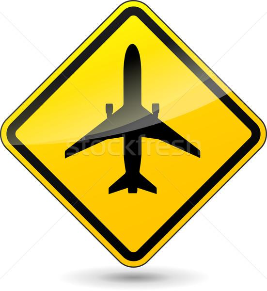 Vector airport diamond sign Stock photo © nickylarson974