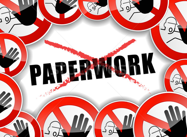 Stock photo: no paperwork abstract concept