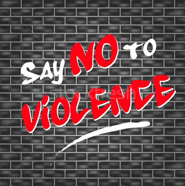 нет насилия иллюстрация граффити дизайна краской Сток-фото © nickylarson974